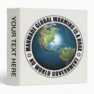 Manmade Global Warming Hoax 3 Ring Binder