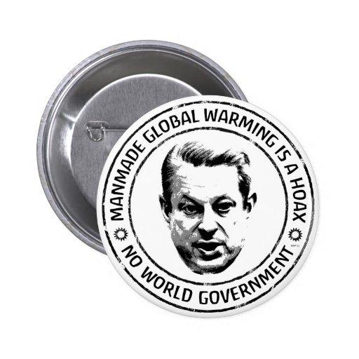 Manmade Global Warming Hoax Button