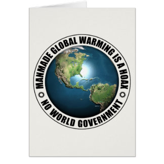 Manmade Global Warming Hoax Card