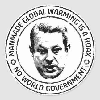 Manmade Global Warming Hoax Classic Round Sticker