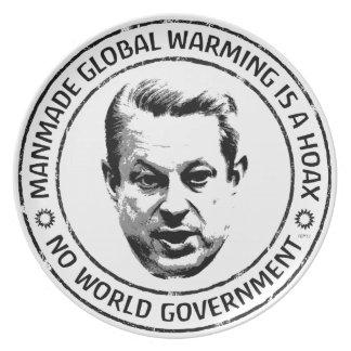 Manmade Global Warming Hoax Plate