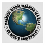 Manmade Global Warming Hoax Posters