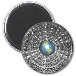 Manmade Global Warming Is A Hoax 2 Inch Round Magnet