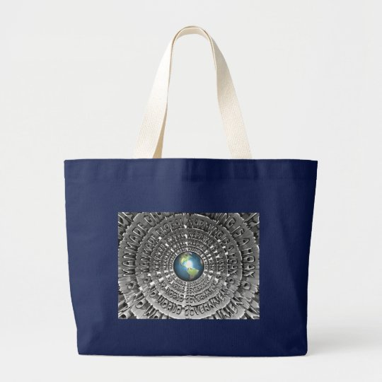 Manmade Global Warming Is A Hoax Large Tote Bag