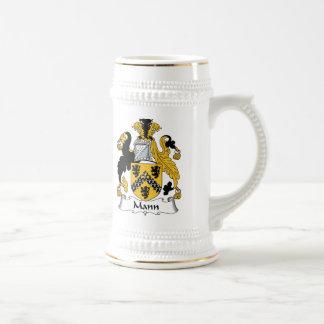 Mann Family Crest Mugs