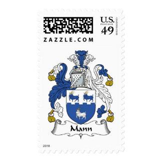 Mann Family Crest Stamp