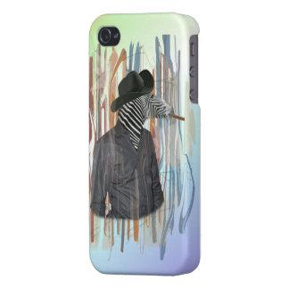 mann hülle con zebra iPhone 4 carcasas