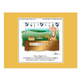 MANNA-PRENEUR Cartoon Postcard by April McCallum