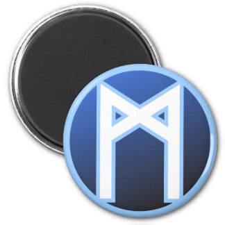 Mannaz Man Rune 2 Inch Round Magnet