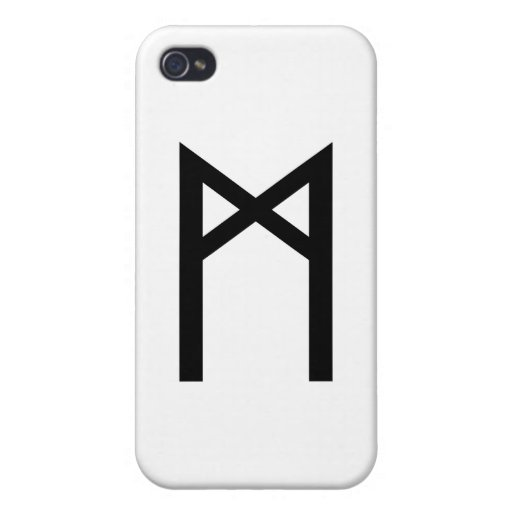 MANNAZ RUNE CASE FOR iPhone 4