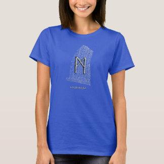 Mannaz rune symbol, on west Rok runestone T-Shirt