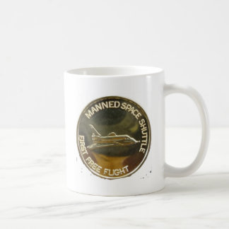 MANNED SPACE SHUTTLE FIRST FREE FLIGHT COFFEE MUGS