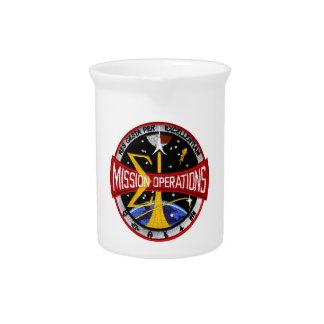 Manned Spacecraft Center's Mission Control Drink Pitcher