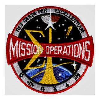 Manned Spacecraft Center's Mission Control Poster