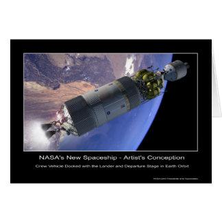 MannedMarsMission-133830main_leave_earth_hi Greeting Card