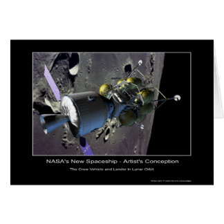 MannedMarsMission-133832main_lunar_orbit_hi Greeting Cards