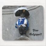 Manneken Pis Mousepad, subtítulo: ¡Vive Belgique!! Alfombrillas De Raton