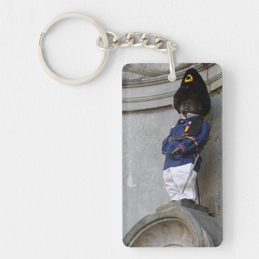 Manneken Pis Single-Sided Rectangular Acrylic Keychain