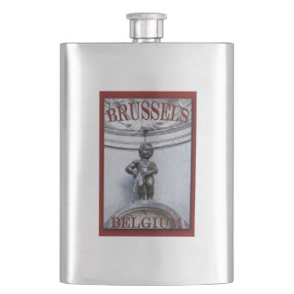 Mannekin Pis in Brussels Flask