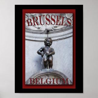 Mannekin Pis in Brussels Poster