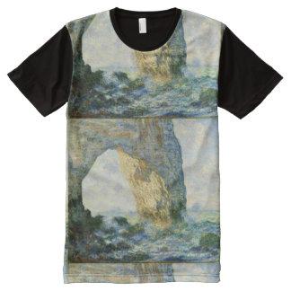 Manneporte, Rock Arch Étretat (Normandy) - Monet All-Over-Print T-Shirt