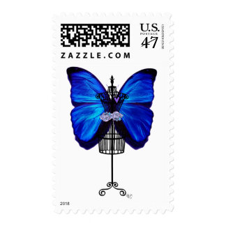 Mannequin Blue Butterfly Postage