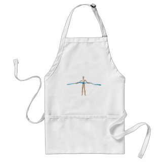 Mannequin holding a measuring tape adult apron