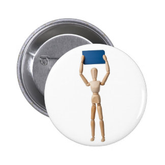 Mannequin holding business card button