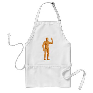 mannequin human anatomy standing retro adult apron