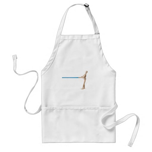 Mannequin pulling a measuring tape adult apron