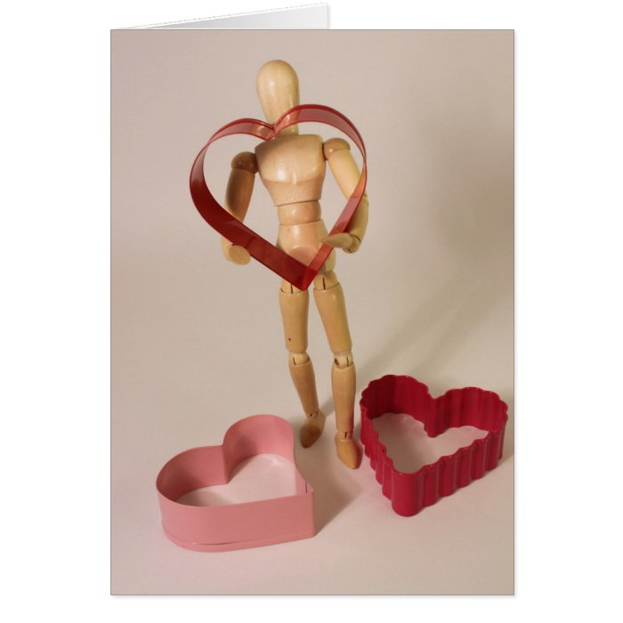 Mannequin with heart card