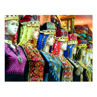 Mannequins in traditional costumes, Amman, Jordan Postcard