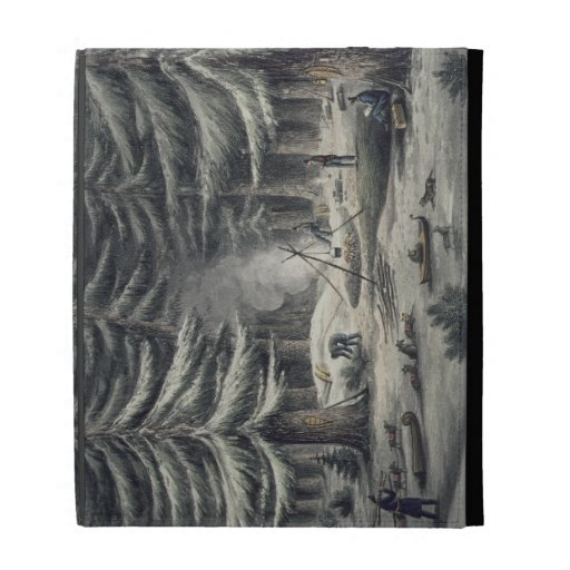 Manner of Making a Resting Place on a Winter Night iPad Folio Cover
