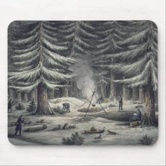 Manner of Making a Resting Place on a Winter Night Mouse Pad