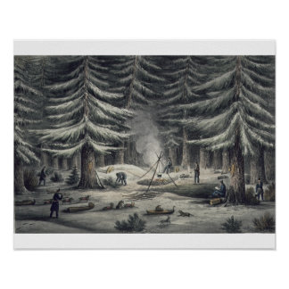 Manner of Making a Resting Place on a Winter Night Posters