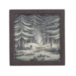 Manner of Making a Resting Place on a Winter Night Premium Trinket Boxes