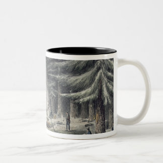 Manner of Making a Resting Place on a Winter Night Two-Tone Coffee Mug
