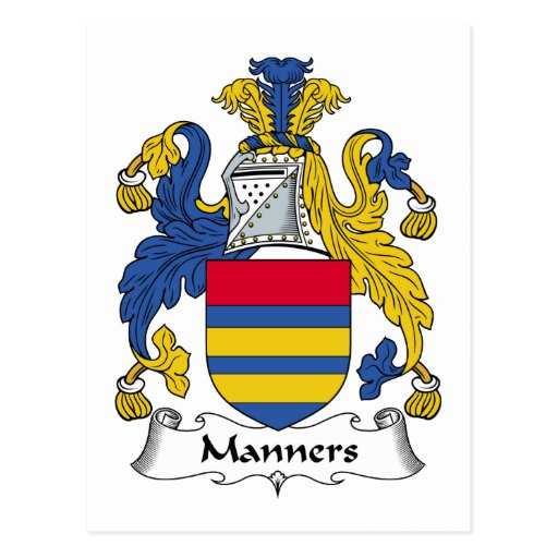 Manners Family Crest Post Card