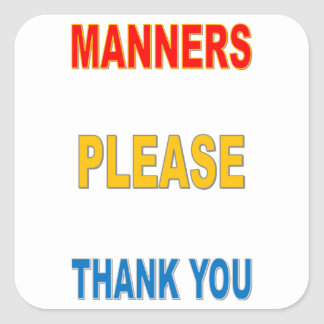 MANNERS SQUARE STICKER