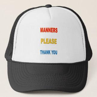 MANNERS TRUCKER HAT