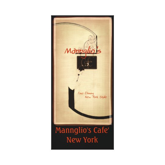 Mannglio's cafe' canvas print