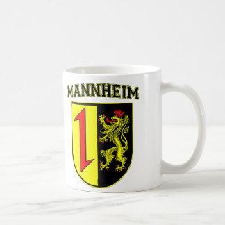 Mannheim Alemania Wappen/escudo Taza Básica Blanca