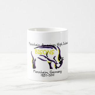 Mannheim Bison Mascot Classic White Coffee Mug