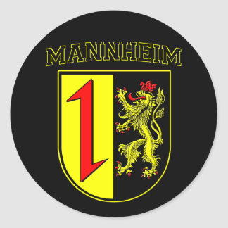 Mannheim coat of arms/Crest Classic Round Sticker