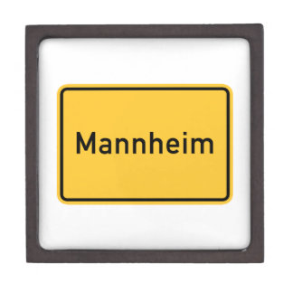 Mannheim, Germany Road Sign Gift Box