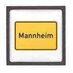 Mannheim, Germany Road Sign Premium Keepsake Box