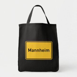 Mannheim, Germany Road Sign Tote Bag