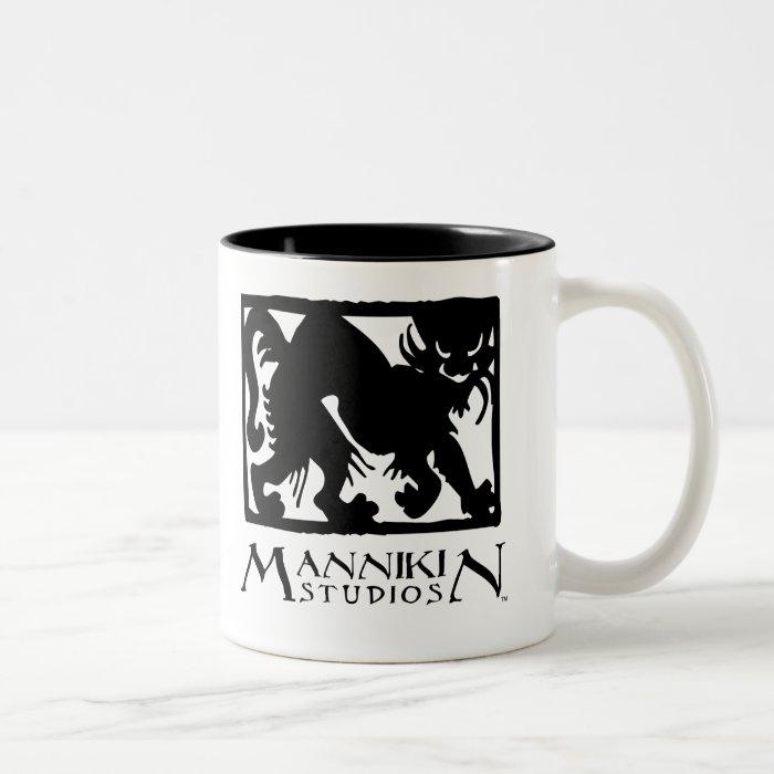 Mannikin Studios logo mug
