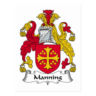 Manning Family Crest Postcard