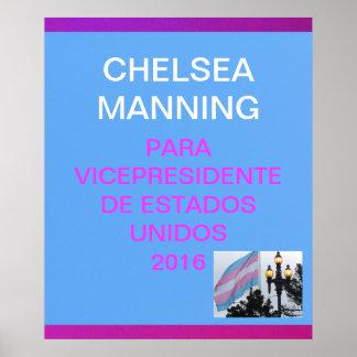 Manning para vicepresidente de Estados Unidos 2016 Poster